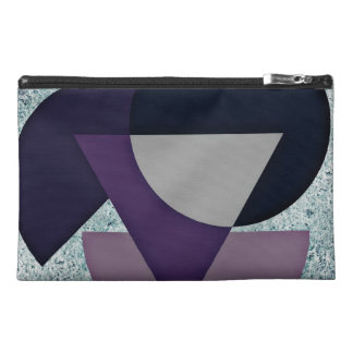 Bolso azul y púrpura del diseño geométrico
