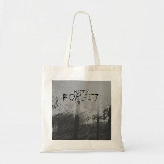 Bolso blanco y negro espeluznante del bosque