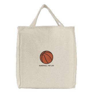 Bolso bordado bola personalizado del baloncesto