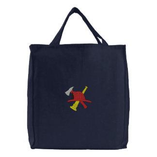 Bolso bordado bombero bolsas de mano bordadas
