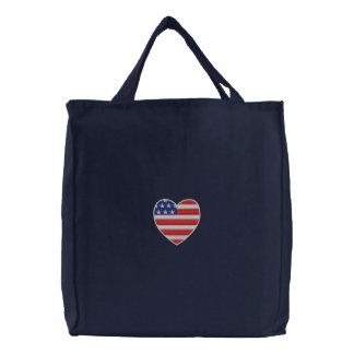 Bolso bordado corazón americano bolsa