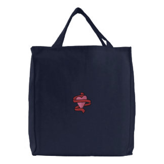Bolso bordado corazón de la cinta bolsas