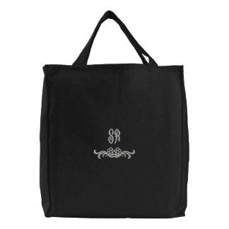 Bolso bordado iniciales elegantes del monograma