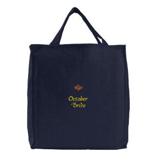 Bolso bordado marina de guerra de la novia de octu bolsa bordada