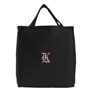 Bolso bordado monograma de la letra K