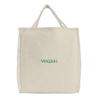 Bolso bordado personalizado del vegano