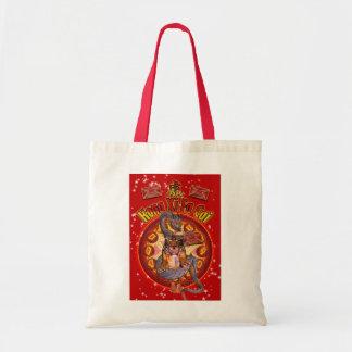 Bolso chino del Año Nuevo con el tigre y el dragón Bolsas