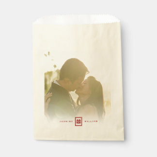 Bolso chino del favor del boda de la felicidad bolsa de papel