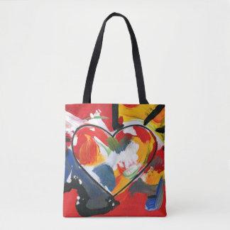 Bolso colorido del corazón
