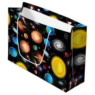 Bolso colorido del regalo del espacio de la bolsa de regalo grande