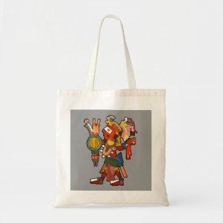 Bolso con el guerrero indio maya bolsas lienzo