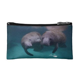 Bolso cosmético de 2 amigos del Manatee, embrague,