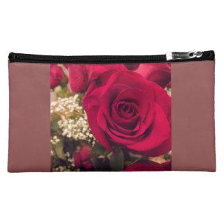 Bolso cosmético medio del rosa rojo