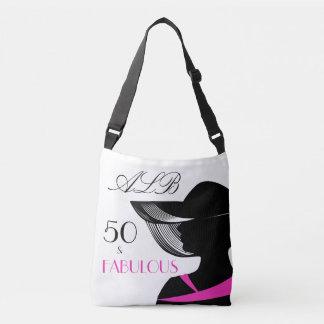 Bolso Cruzado 50 y cumpleaños elegante del art déco fabuloso