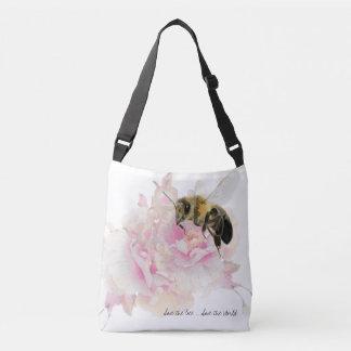 Bolso Cruzado ¡Ahorre la abeja! ¡Ahorre el mundo! Abeja bonita