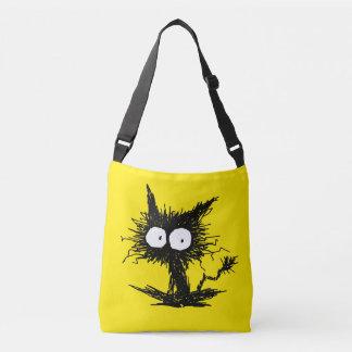 Bolso Cruzado Amarillo desalinado negro de GabiGabi del gatito