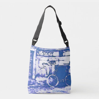 Bolso Cruzado Art2Go empaqueta Blue#1 - todo encima - imprime la