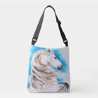 Bolso Cruzado Azul andaluz del caballo