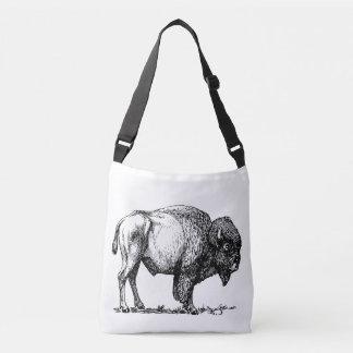 Bolso Cruzado Bisonte americano del búfalo