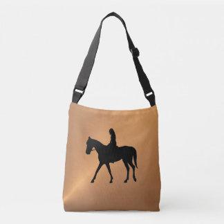 Bolso Cruzado Brillo de cobre equino