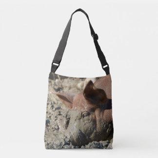 Bolso Cruzado Cara fangosa divertida del cerdo