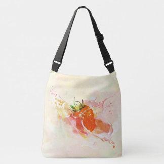 Bolso Cruzado ¡Chapoteo de la fresa! Acuarela