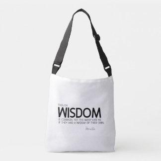 Bolso Cruzado CITAS: Heraclitus: La sabiduría es común