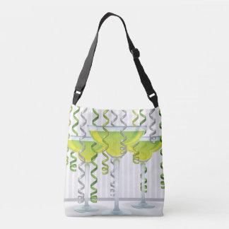Bolso Cruzado Cóctel y cinta verdes