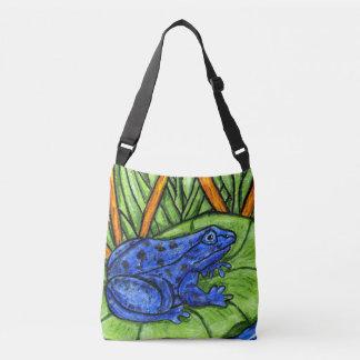 Bolso Cruzado Colores vibrantes que pintan la hierba azul del