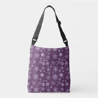 Bolso Cruzado Copos de nieve púrpuras para el dolor crónico