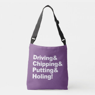 Bolso Cruzado Driving&Chipping&Putting&Holing (blanco)