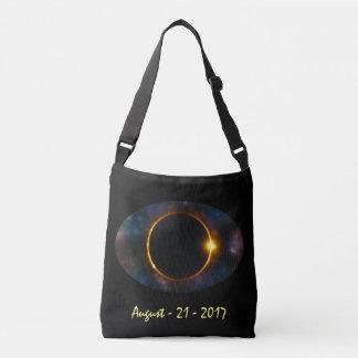 Bolso Cruzado Eclipse solar total del ojo 2017 cósmicos frescos