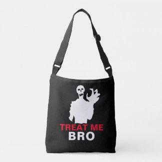 Bolso Cruzado El zombi me trata personalizable divertido de Bro