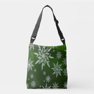 Bolso Cruzado Estrellas verdes del navidad con el cristal de