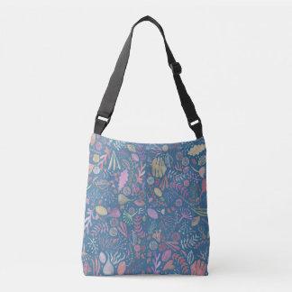 Bolso Cruzado Flores multicolor acuarelas suaves