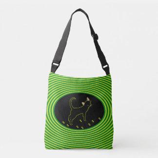 Bolso Cruzado Gatito de neón negro