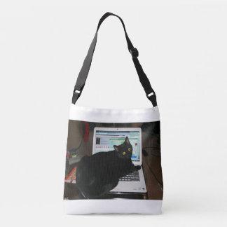 Bolso Cruzado Gato del ordenador