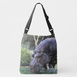 Bolso Cruzado hippopotamus pintado