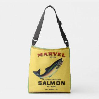 Bolso Cruzado los salmones de la maravilla de los años 30 pueden