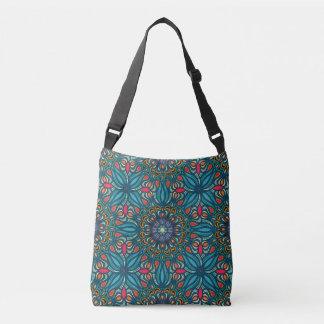Bolso Cruzado Modelo floral étnico abstracto colorido de la