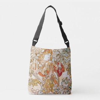Bolso Cruzado Mujer de Alfonso Mucha con un arte Nouveau de la
