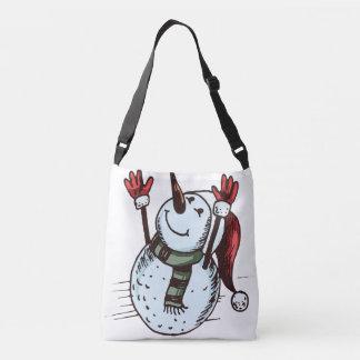 Bolso Cruzado Muñeco de nieve con el gorra de Santa - nariz de