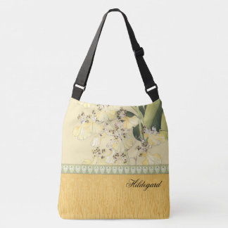 Bolso Cruzado Orquídeas japonesas del leopardo de la impresión