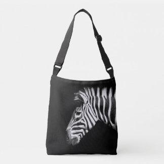 Bolso Cruzado Retrato animal de la cebra en negro
