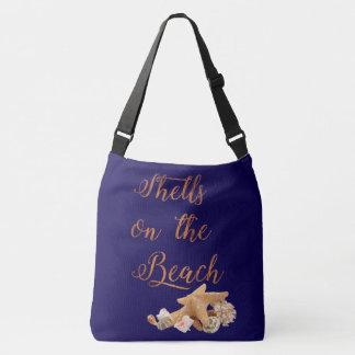 Bolso Cruzado Seashells de las estrellas de mar en las