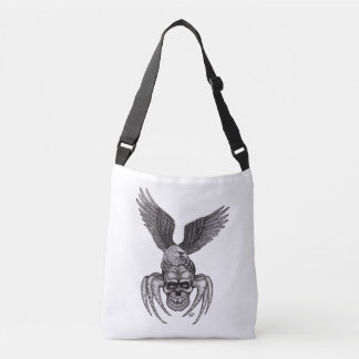 Bolso Cruzado Spiderskull con Eagle en Tatuaje-estilo