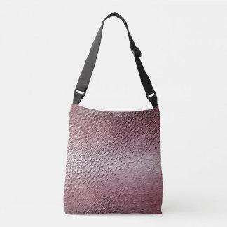 Bolso Cruzado textura púrpura metálica