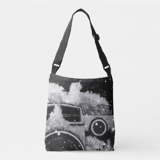 Bolso Cruzado Tormenta de la nieve de la cámara del vintage