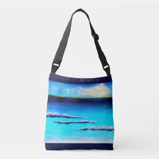 Bolso Cruzado Tote abstracto de la playa