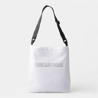 Bolso Cruzado Tote Bag_LOVE del Doodle Y PAZ